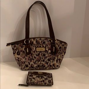 Coach Animal print bag & wallet